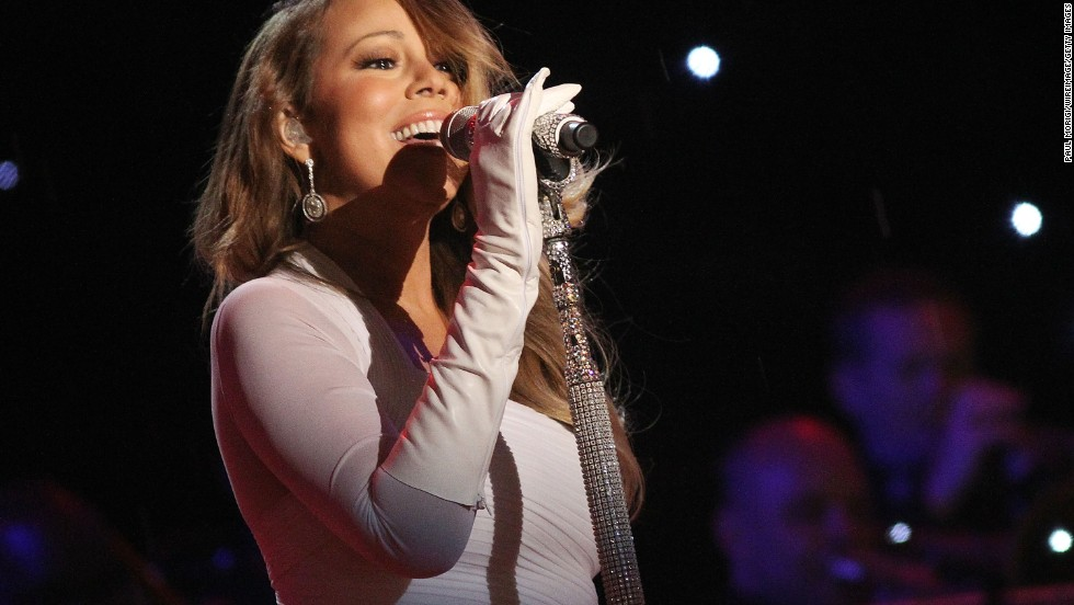 Mariah Carey performs during the National Christmas Tree Lighting Ceremony on December 6.
