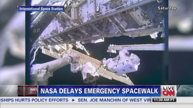 NASA delays emergency spacewalk