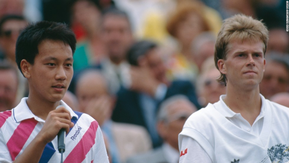 Michael Chang, left, famously won the French Open as a 17-year-old when he beat Stefan Edberg. He has coached after retiring and it was announced this month that he would be working with Asia's top men's player, Kei Nishikori.