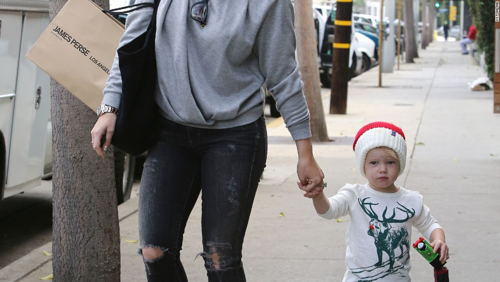 Hilary Duff and her son Luca are in the holiday spirit on December 21.
