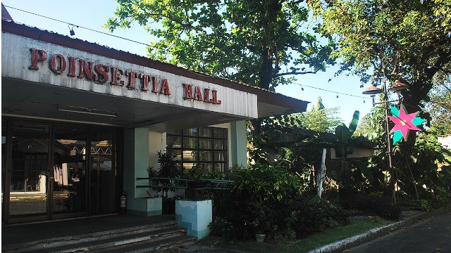 The aging Poinsettia Hall, part of the once-thriving Paskuhan Park in San Fernando.