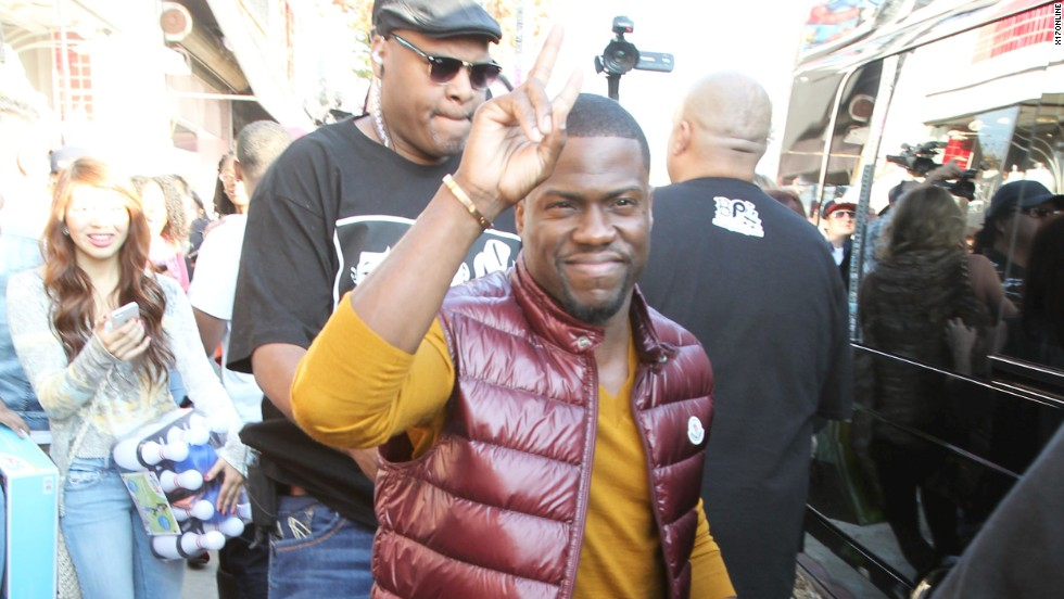Kevin Hart spreads the peace on December 22.