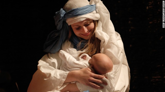 Jay Parini says the relationship between Mary and Jesus grew complicated after its serene beginnings, portrayed here as part of a Winterhall Players performance of  The Nativity, at All Souls Church in London.