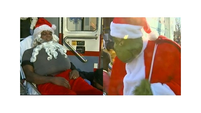 Grinch delivers toys after Santa is shot