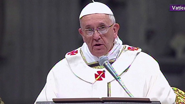 The Pope delivers first Christmas homily