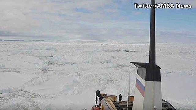 Dozens trapped on ship near Antarctica