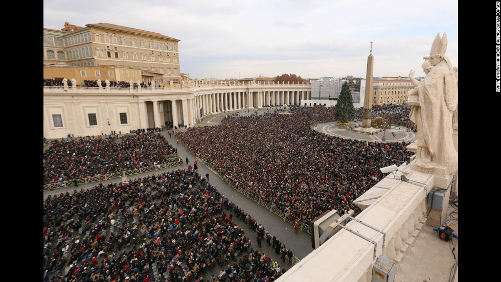 Thousands gather at St Peter's Square to hear the Pope's traditional Christmas blessing. The massive turnout on Christmas Day mirrored the popularity Francis has enjoyed since becoming head of the Catholic Church.  His reputation for being down to earth and genuinely caring about people has touched a chord with millions.