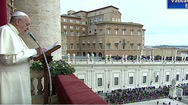Pope Francis' first Christmas message