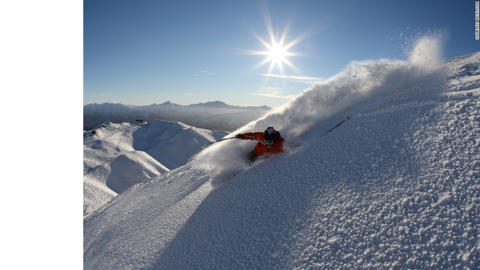 Coronet Peak's Exchange Drop, famed for its roller coaster terrain, is used as a training ground by New Zealand's national ski team.