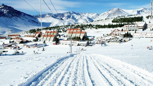 A popular heli-skiing destination, Las Lenas also has one of the world's longest ski runs.