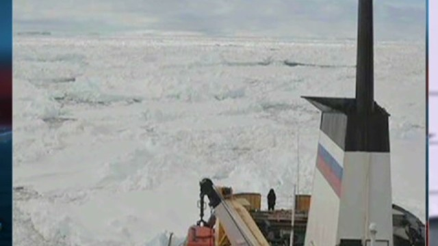 Morale high on ship stuck off Antarctica