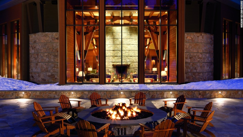 "This Ritz-Carlton hotel offers ski-in/ski-out access and a ""marshmologist"" to help you create your own marshmallow masterpiece at the Lake Tahoe hotel's outdoor firepit."