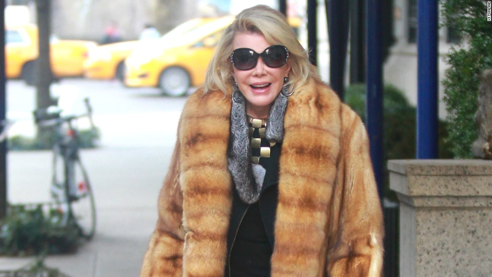 Joan Rivers keeps warm in New York City on December 26.
