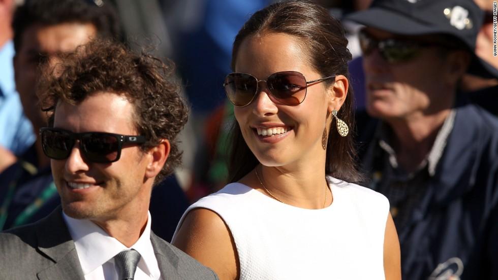Ivanovic has had a string of high-profile boyfriends to help distract her, including Masters-winning golfer Adam Scott (left) and Spanish tennis player Fernando Verdasco.