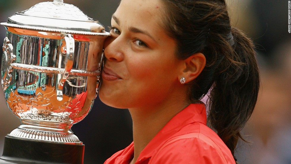 Three years later, the Serbian clinched her maiden grand slam with a win at the French Open in 2008 and was the world No. 1 for the first time in her career.