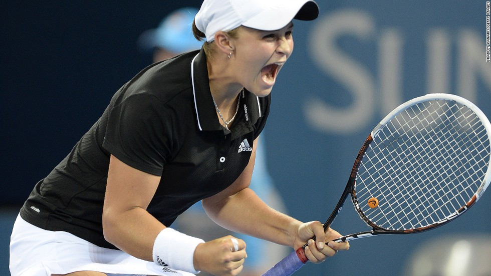 Sharapova will next face Queensland native Ashleigh Barty, after the 17-year-old upset Daniela Hantuchova of Slovakia.