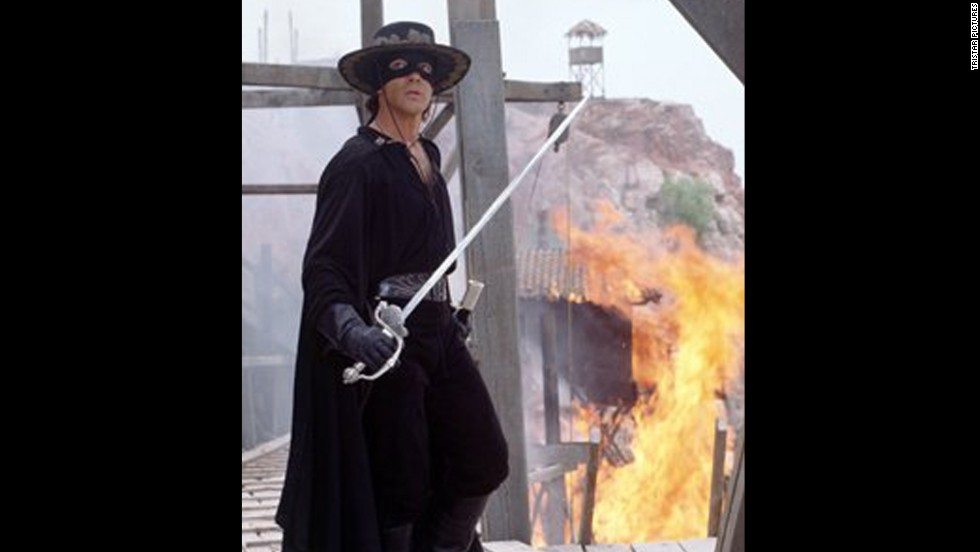 "<strong>""The Mask of Zorro""</strong> -- Antonio Banderas starred in this 1998 swashbuckler."