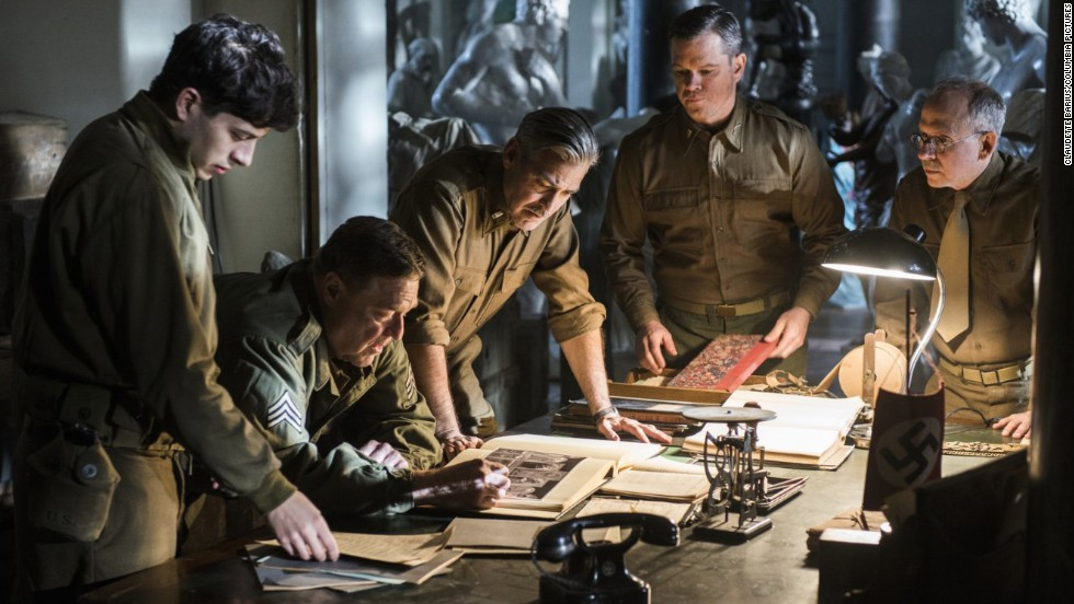 "The year will be filled with Transformers and superheroes, biblical figures and Jersey Boys. We can't fit all of them here, but here are a few to look out for -- such as George Clooney's newest film, <strong>""Monuments Men.""</strong> It's based on a true story about a special World War II unit created to save some of Europe's most valuable art. The 1964 Burt Lancaster film ""The Train"" traveled some of the same track, but Clooney's version focuses on the art professionals and takes a more lighthearted view. And what a cast: Clooney, Matt Damon, Bill Murray, Cate Blanchett and Jean ""The Artist"" Dujardin. (<em>February 7</em>)<br />"
