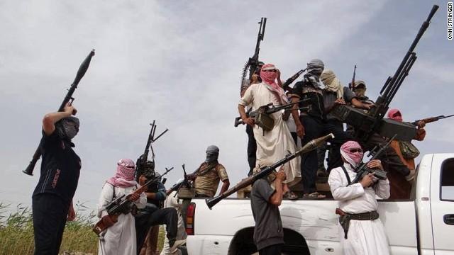 Iraqi security forces on a patrol in Iraq's al-Anbar province.