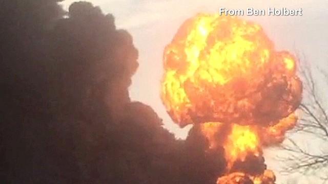 Two trains collide in North Dakota