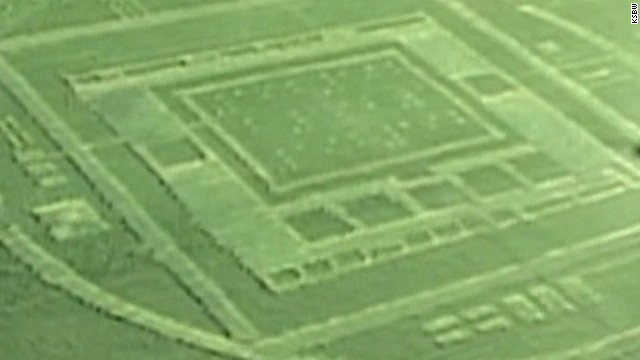 Crop circle, strange lights spotted