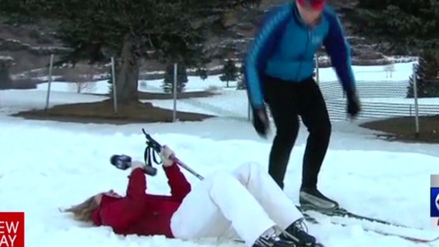 Reporter faints in snow Graham Newday _00002407.jpg