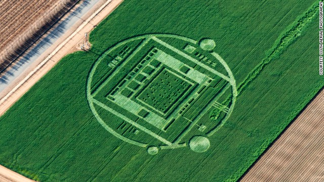 Crop circles get mowed down
