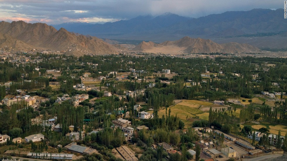 The view of Leh from the old palace that sits atop a hill extends for miles.