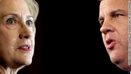Hillary Clinton and Chris Christie