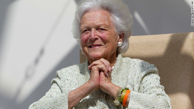 "Former first lady Barbara Bush ""has already received visits from her husband and family,"" a spokesman said."