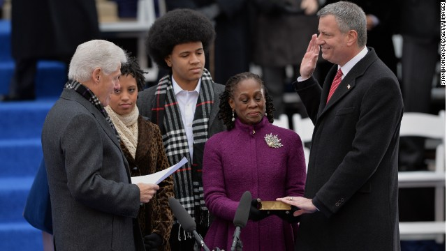 Clintons using de Blasio inauguration?