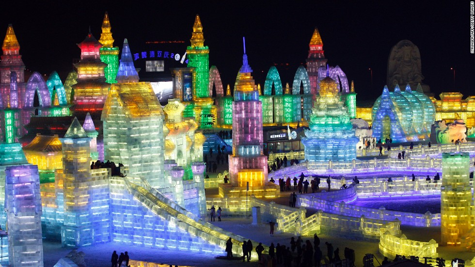 Cue jaw drops. Amazing ice sculptures and replicas highlight the annual Harbin Ice and Snow Festival in the northern Chinese city of Harbin.