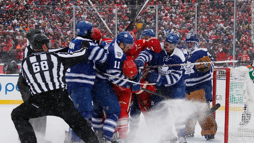 The game was scoreless until 13 minutes into the second period when Daniel Alfredsson put the Detroit Red Wings ahead, before James Van Riemsdyk tied the score. Tyler Bozak edged the Toronto Maple Leafs in front in the third period, before Justin Abdelkader drew the scores level with five minutes remaining on the clock. But the Maple Leafs had the last laugh, winning the resulting shootout 2-1.