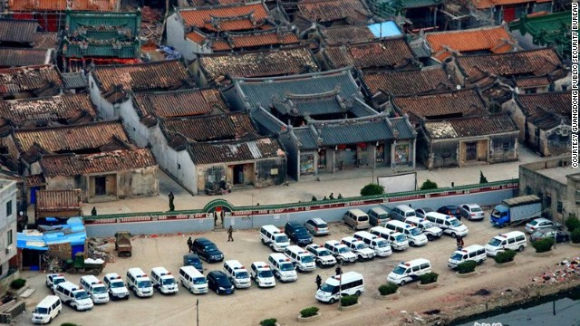 Authorities seized three tons of crystal meth and arrested 182 people in a raid on Boshe, a village in Guangdong, China.