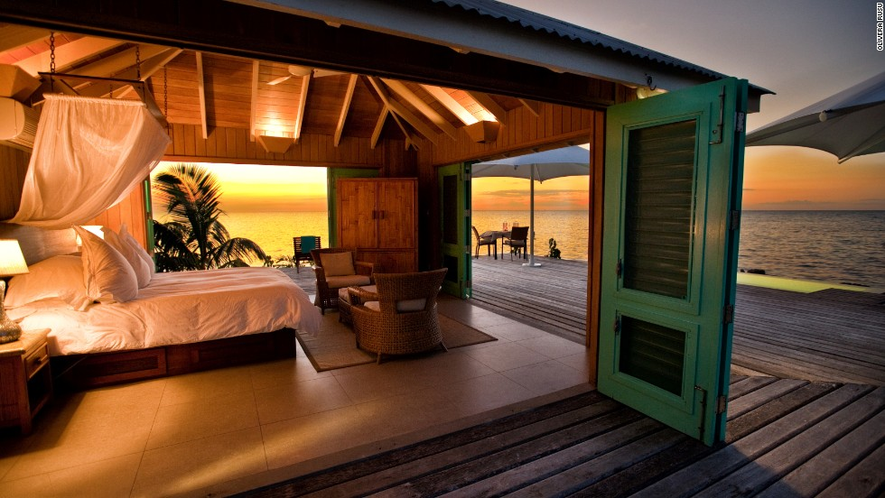 Six villas and an overwater bungalow offer tremendous privacy on Cayo Espanto, a tiny island off the coast of Belize.