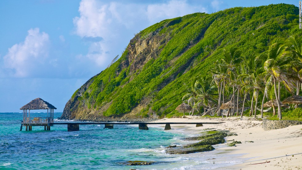 Part of the Grenadines, the private island resort of Petit St. Vincent is a luxurious place to unplug