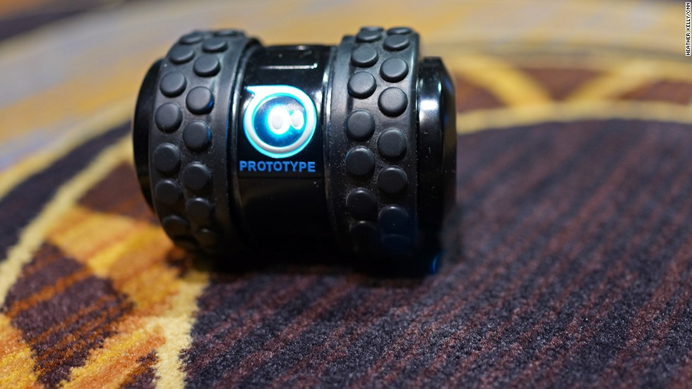The Sphero 2B is another smartphone-controlled robotic toy that can speed and jump into the air.
