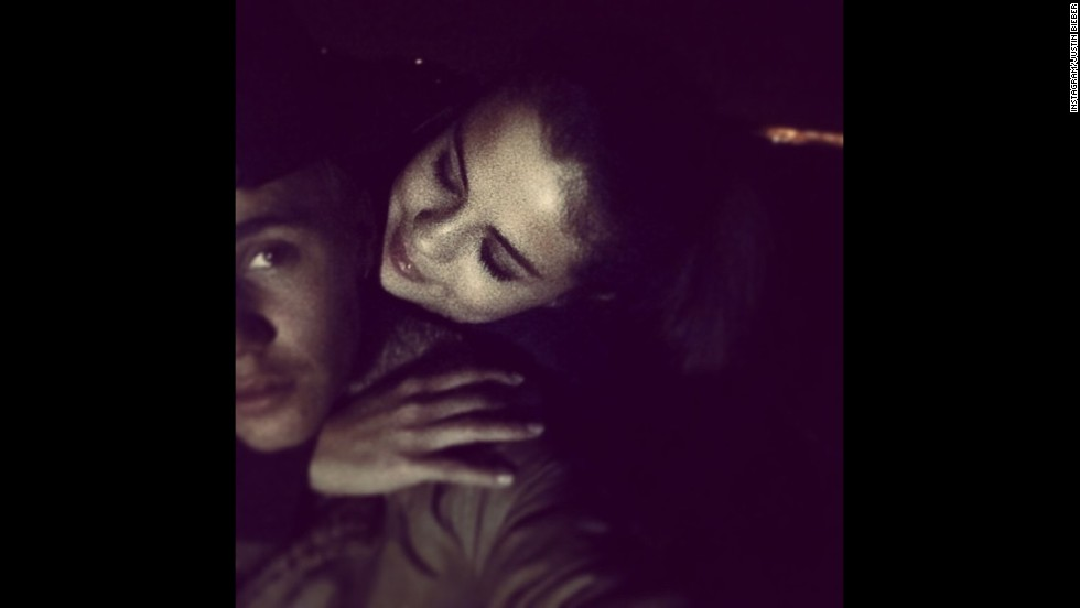 Selena Gomez is Bieber's ex-girlfriend, but she has a habit of popping up unexpectedly every now and then, making us think it's possible they might still be in contact. Bieber shared this cuddly photo on Instagram soon after the New Year.