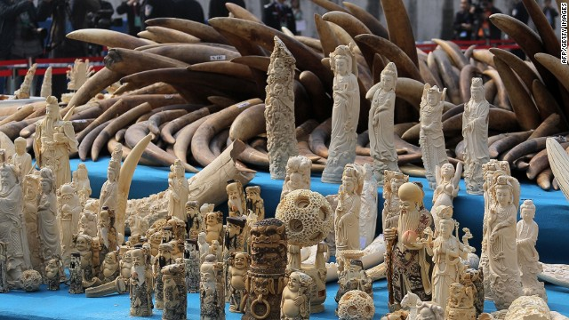 China destroys illegal ivory