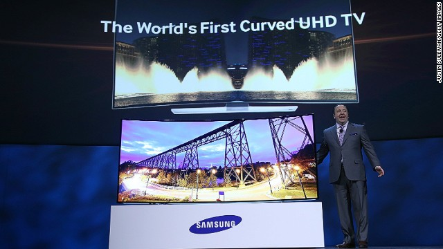 Curved, 4K TVs hot at CES 2014