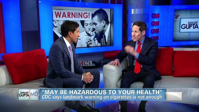 Gupta talks with CDC's Dr. Tom Frieden