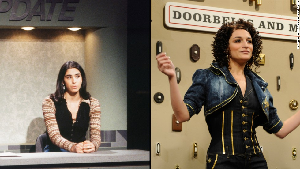 """Sarah Silverman, left, was only on the show from 1993 to 1994 and Jenny Slate from 2009 to 2010 but both made an impression during their brief times on """"Saturday Night Live."""""""