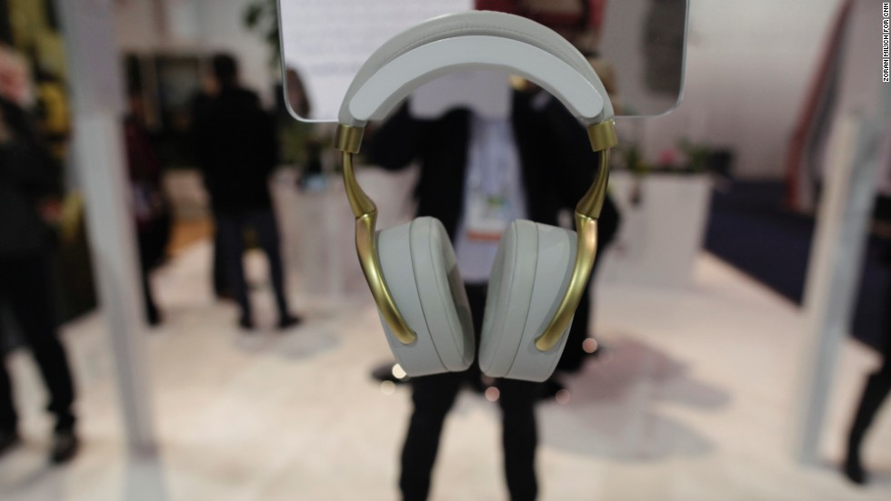 These Parrot Zik wireless noise-canceling headphones were conceived by noted designer Philippe Starck.