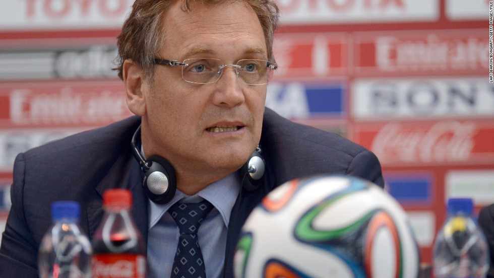 FIFA secretary general Jerome Valcke was suspended until further notice.