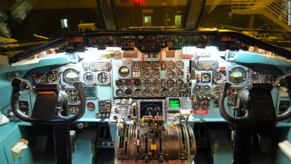 "N773NC's cockpit was a lot like stepping back into the 1970s. It had no advanced flight management computer and no modern ""glass cockpit"" digital displays. Instruments included plenty of old-fashioned round, analog dials."
