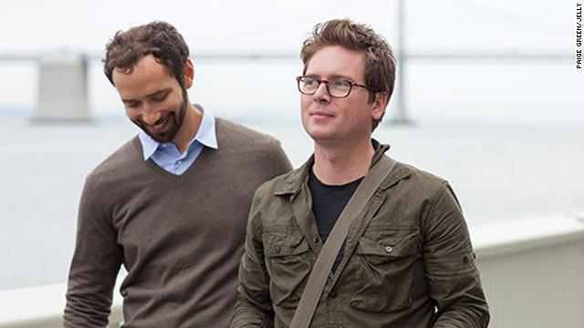 Ben Finkel, left, and Biz Stone, co-founders of Jelly.