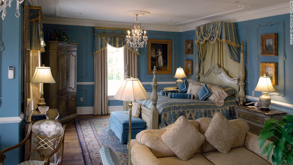 Each of the 20 guest rooms captures a different period or theme. The Renaissance room is pictured here.