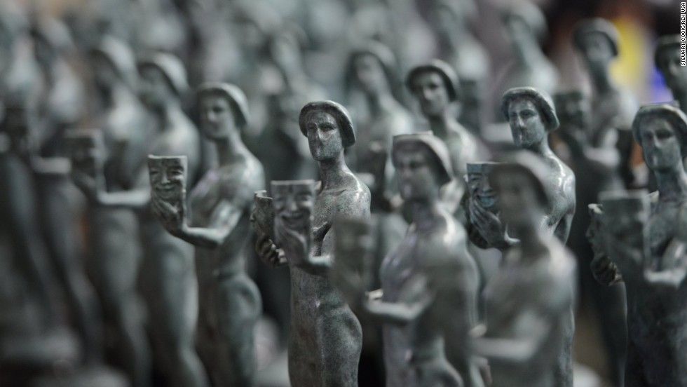 Each statuette weighs 12 pounds and stands 16 inches tall.