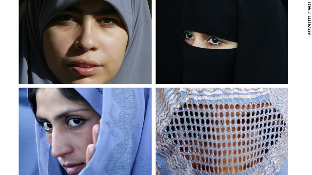 The different types of veils.
