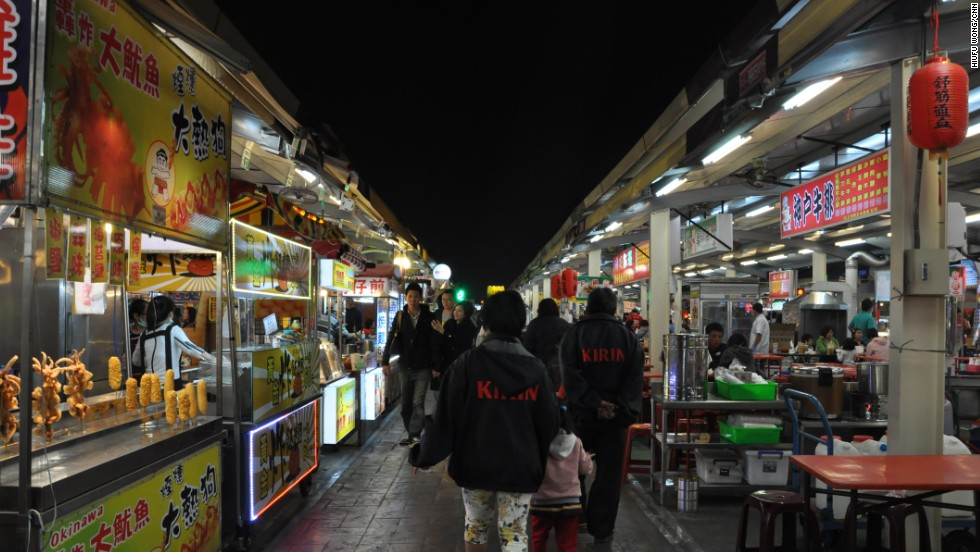 Craving oyster omelets and bubble tea in the middle of the night? Crowded with street hawkers, the 300 or so bustling bazaars on this tiny island operate until the small hours.